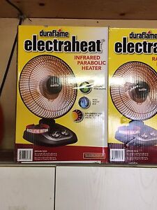 Duraflame infrared parabolic oscillating heaters, new in box