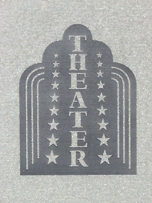 Theater Art deco Style Wall Sign Movie Home Decor