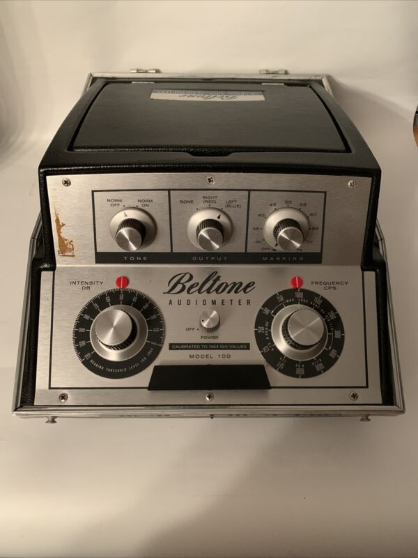 Beltone Model 10D Audiometer Hearing Tester with Headphones EB-3892