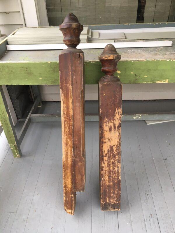 Pair Antique Newel Post