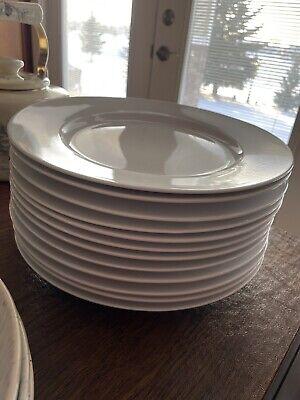 "Ralph Lauren Club Porcelain Dinner Plate (12 available) 11"" All White"
