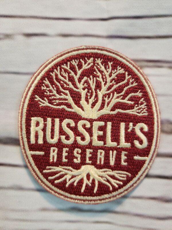 "Wild Turkey Bourbon Russells Reserve Sew On PATCH 2½"" W x 2⅝"" H"