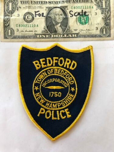 Very Rare Bedford New Hampshire Police Patch (town of) un-sewn in mint shape