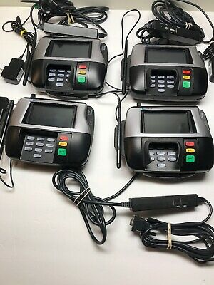 4 Verifone Point Of Sale Credit Card Terminal Mx860 W 3 Power Adapters