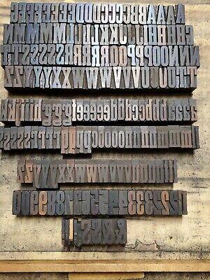 Antique Wood Letterpress Print Type Block Letters Numbers Punctuation 1 Lotf