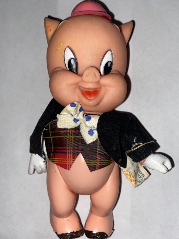 """Vintage 1968 R. Dakin & Co. """"Porky Pig"""" Warner Bros. Plastic/Rubber Figure"""
