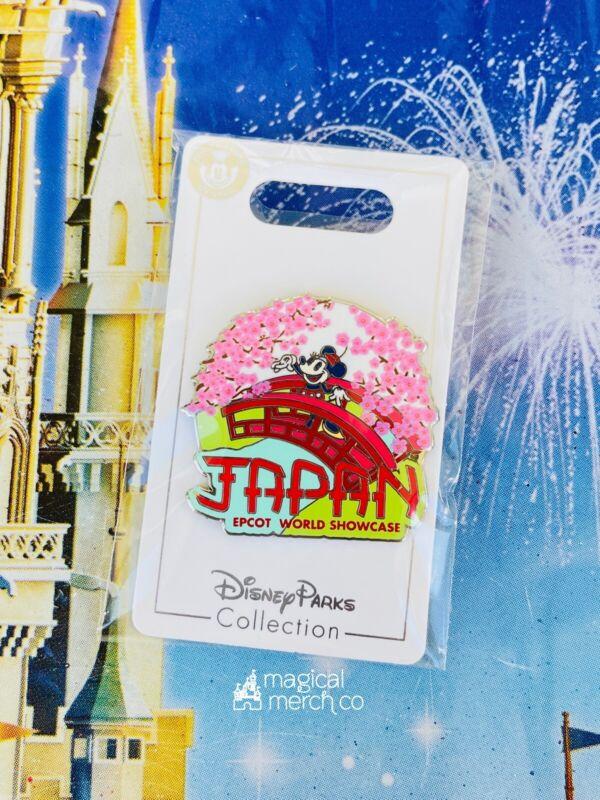 2021 Disney Parks Epcot World Showcase Pin Japan Minnie Mouse Cherry Blossom