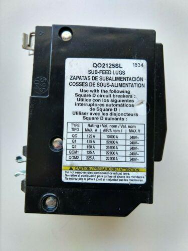 Square D QO2125SL Plug on sub feed Lug 125 amp 2 Pole