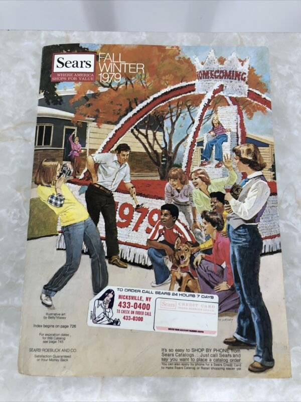 Vintage Sears Catalog Fall / Winter 1979 Annual Great Condition Beautiful Photos