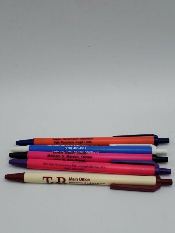 Lot Of 5 Advertising Click Pens Bargain Hunter