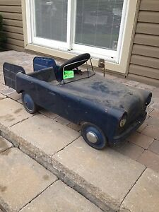 1950's Antique Vintage Steel Metal Peddle Car $225. cash