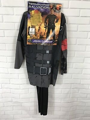 John Connor Costume Terminator Salvation Movie Childs Boy Girl Size Large 12 14