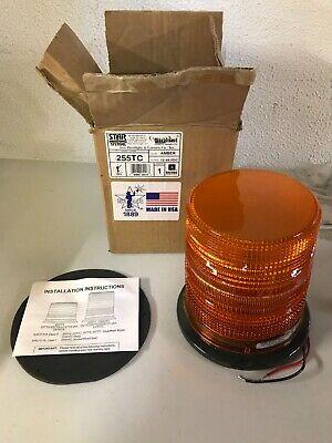 Amber Strobe Light. Star Warning Systems 255tc 12-48 Volt. Brand New Open Box.