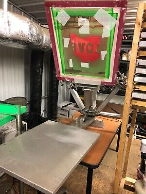 4 Color 1station Silk Screen Printing Press W Tons Of Extras