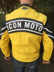 Icon Daytona Retro Moto Leather motorcycle jacket
