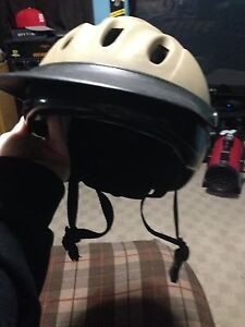 Riding helmet and boots