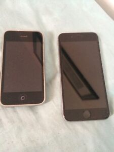 Broken iPhone 6s 64 GB and iPhone 3G 16GB