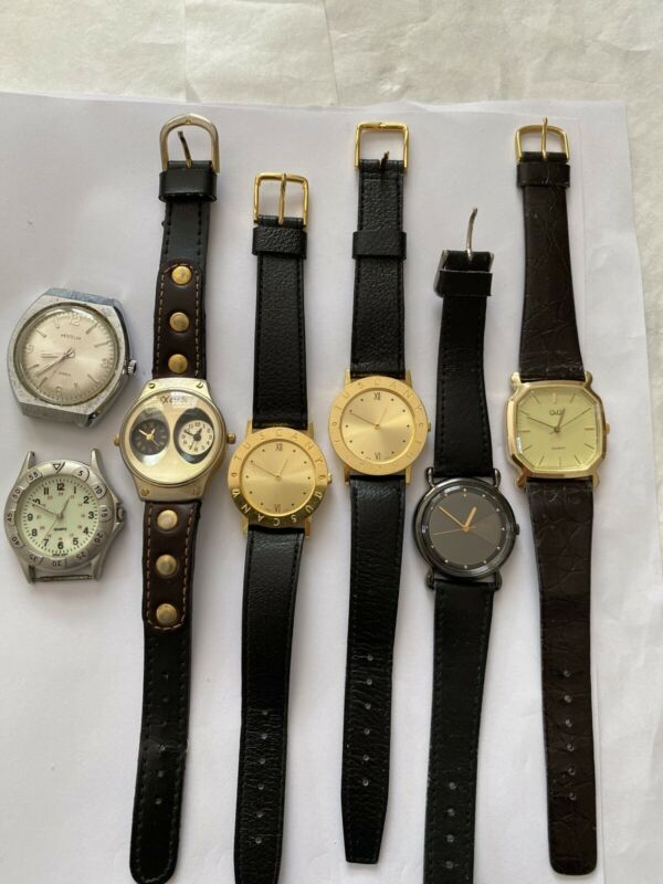 A Lots Of Mens Watches 7 Watches Westclox Q&Q