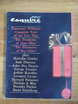 December 1960 Esquire Ingemar Johansson Tomi Ungerer Tennesse Williams 1st pub