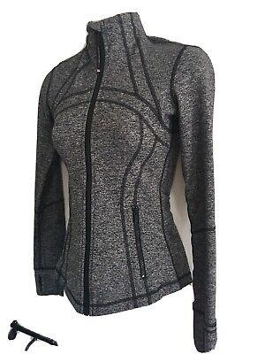Lululemon Womens Define Jacket Gray And Black Size 2