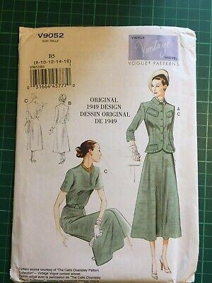Vintage Vogue Sewing Patterns - V9052 - 1949 Design - Brand New...