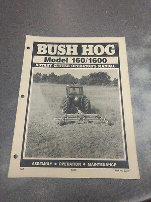 Bush Hog Model 160 1600 Rotary Cutter Operators Manual 62731