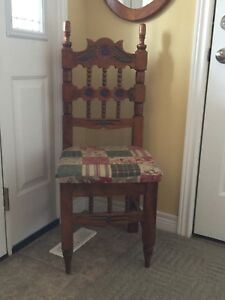Hand Carved Solid Wood Chair