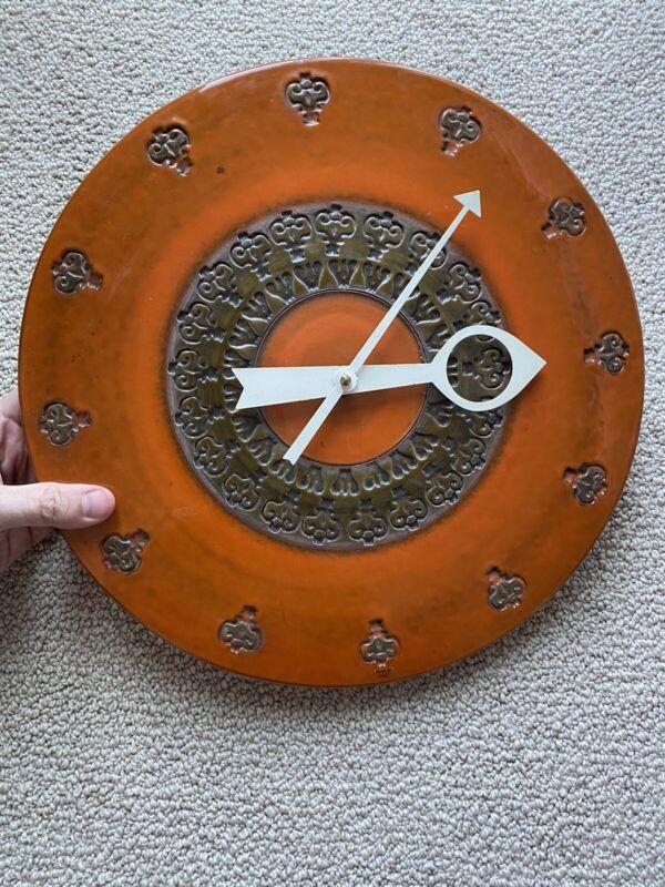 Howard Miller Meridian Mid Century Modern Clock Bitossi Aldo Londi George Nelson