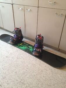 Snowboard, bindings and boots!