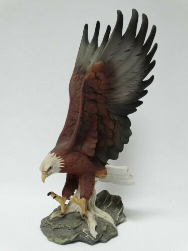 "Vintage 1986 Homco Masterpiece Porcelain Bald Eagle Figurine 11 1/2"" h Mexico"