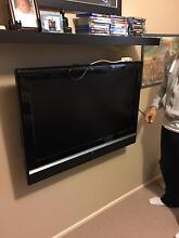 """37"""" TV with remote, bracket and an IKEA freestanding shelf Wattle Grove Liverpool Area Preview"""