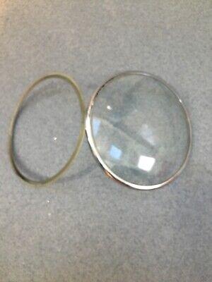 Clock Concave Glass Dial Chrome Colour Bezel Door (A)Smiths Mantel