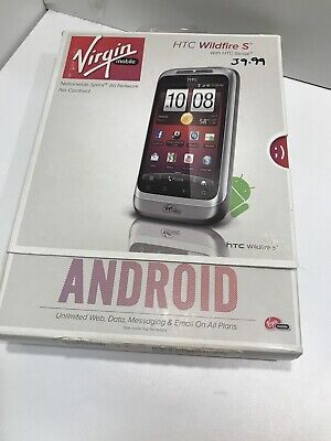 NEW SEALED   HTC Wildfire S - White Virgin Mobile Smartphone