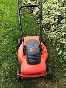 Electric black and decker lawnmower