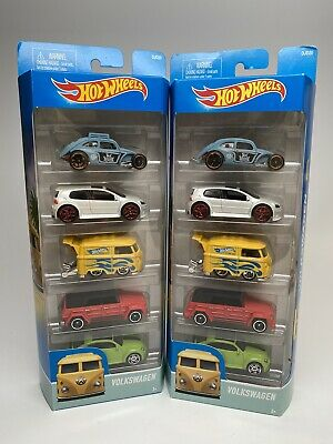 Hot Wheels Volkswagen 5 Pack Variation Beetle Roof Rack Kombi Rare Error Vhtf