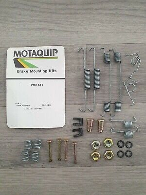Motaquip VMK511 Rear Brake Shoe Spring Fitting Kit Ford Fiesta MK2 1983 - 1989