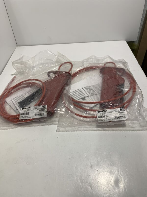 Lot of 2 Brady 50943 All Purpose Cable Lockout Devices, 8ft. Sheathed Cable
