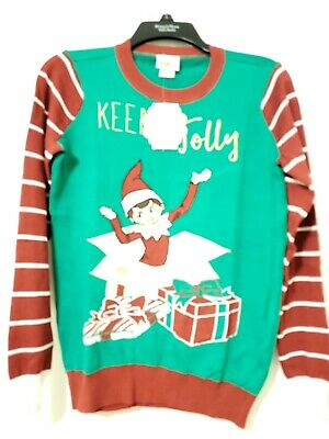 NWT Elf on the Shelf Ugly Christmas Sweater Size XS  Holiday. Keep it