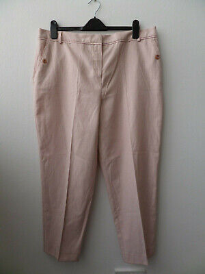 LADIES TU PINK LINEN MIX SUMMER TROUSERS SIZE UK 18 SHORT BNWT