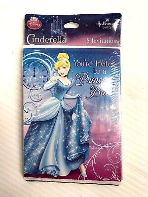 Cinderella Sparkle Disney Princess Kids Birthday Party Invitations w/ Envelopes - Cinderella Birthday Invitations