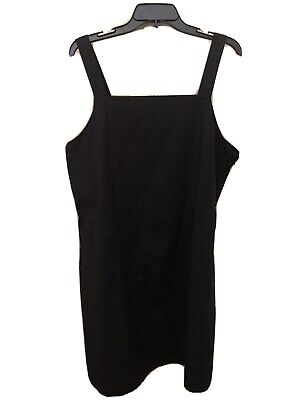 EILEEN FISHER NEW $178 Stretch Organic Cotton Tank Dress in Black L