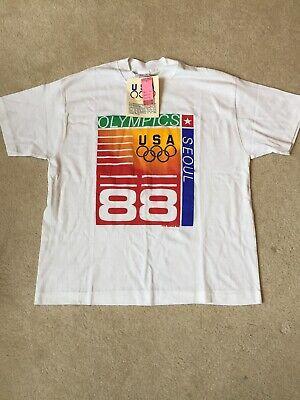 Vintage 1988 USA Olympics Seoul Korea Graphic T-Shirt NWT Boy's Size XL