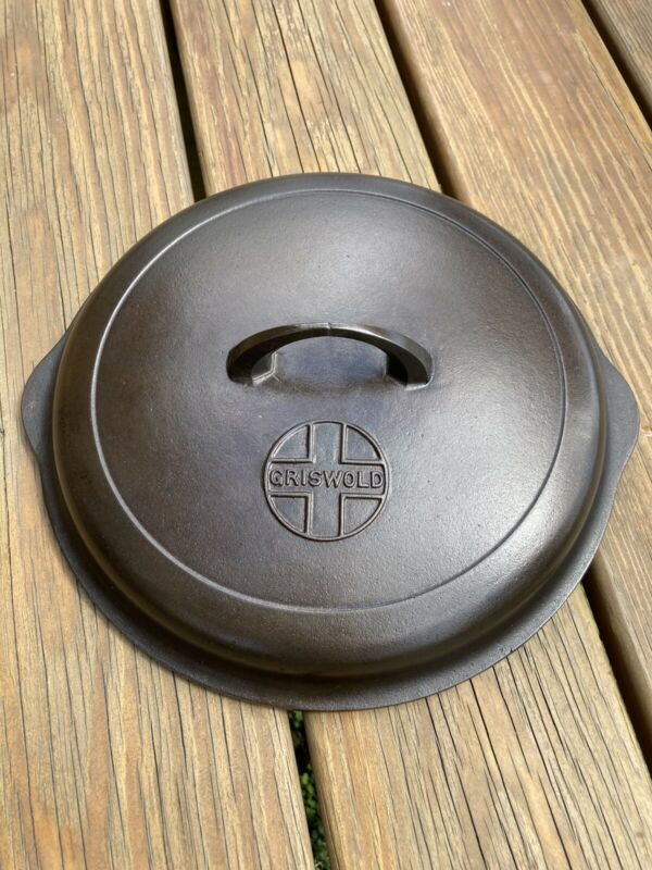 Griswold #9 Button Logo Skillet Lid Cover 1099