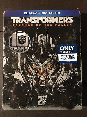 Transformers Revenge Fallen Steelbook 10th Ann Blu-ray + Digital Best Buy NEW