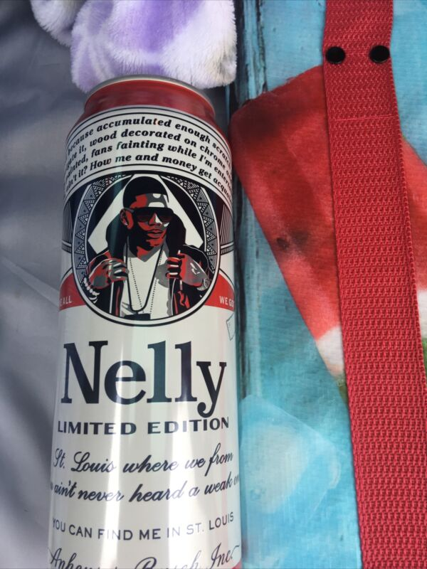 BUDWEISER  NELLY CAN TALL BOY. EMPTY BOTTOM OPEN. Limited Addition. St Louis