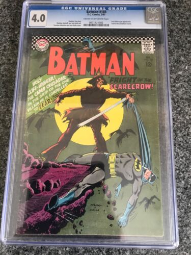 Batman 189 - CGC 4.0 - 1st Silver Age Scarecrow - Iconic Cover - KEY
