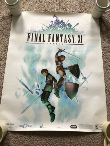 Final Fantasy XI 11 Online PROMOTIONAL POSTER PC PS2 FFXI RARE 2002