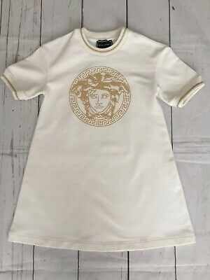 Girls Designer Versace Medusa Logo Dress size 3-4 Years...Worn Once...Immaculate