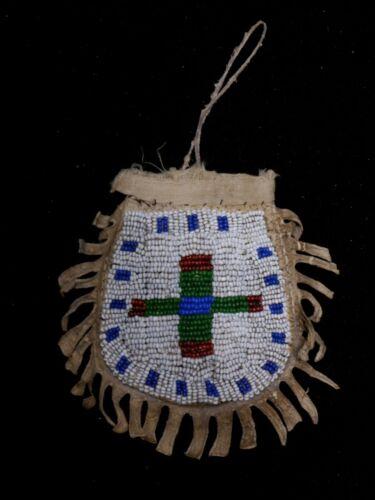 Antique Lakota Child Beaded Belt Bag - Native American