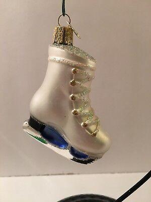 Old World Christmas Ice Skate Blown Glass EUC